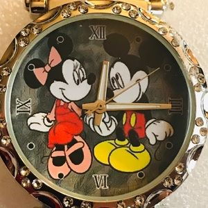 Accessories - New Micky & Minnie Mouse SS Novelty Watch